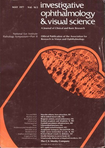 Front Matter (PDF) - Investigative Ophthalmology & Visual Science