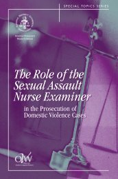 The Role of the Sexual Assault Nurse Examiner - National District ...