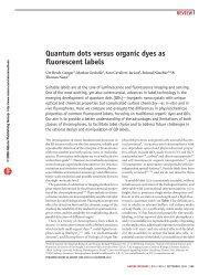 Quantum dots versus organic dyes as fluorescent labels