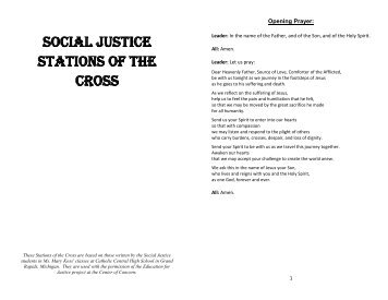 SOCIAL JUSTICE STATIONS OF THE CROSS - Peace and Social ...