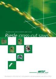 Riesle cross-cut saws - JD (UK) Ltd
