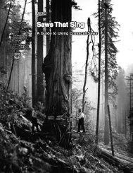 Saws that Sing - Pacific Crest Trail Association