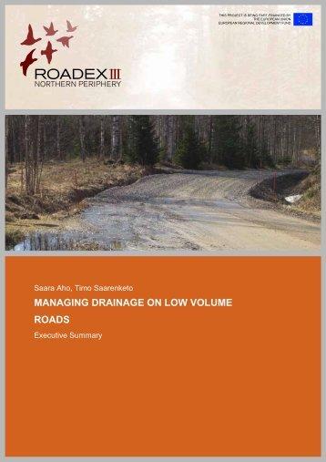 Managing Drainage on Low Volume Roads (2006) - ROADEX