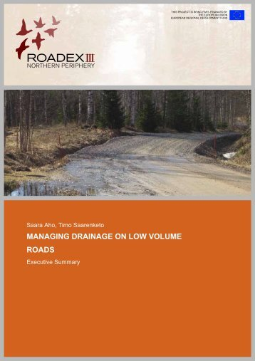 Managing Drainage on Low Volume Roads (2006) - ROADEX