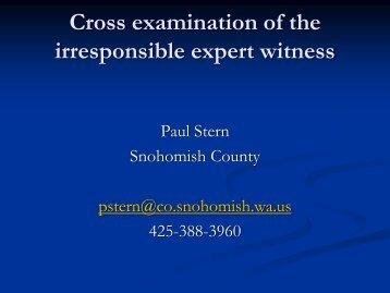 H7 Stern Cross Exam - San Diego International Conference on ...