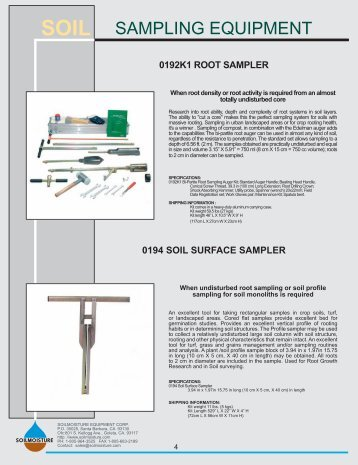 Soil sampling field sampling guidance document 1205 for Soil quality pdf