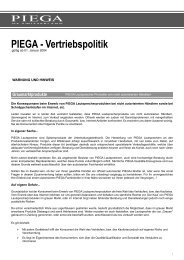 Graumarktprodukte - Piega SA