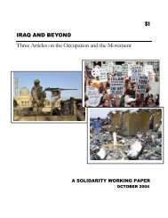 Iraq and Beyond - Solidarity