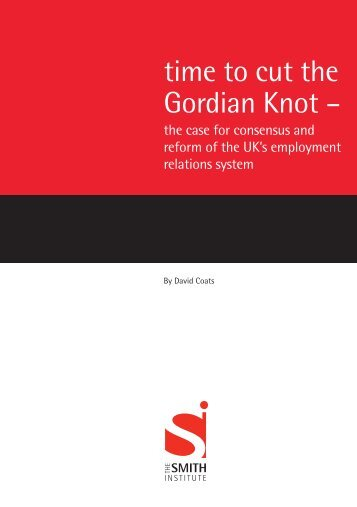 time to cut the Gordian Knot - Smith Institute