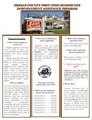 dekalb county first-time homebuyer downpayment assistance program