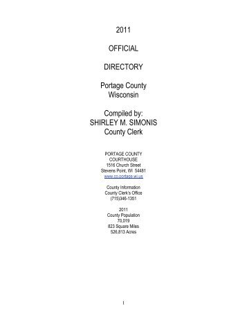 County Directory.html - Portage County