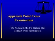 Approach Point Cross Examination - Williamson County Schools