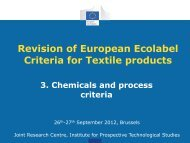 Revision of European Ecolabel Criteria for Textile products