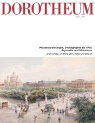 Meisterzeichnungen, Druckgraphik bis 1900, Aquarelle und Miniaturen