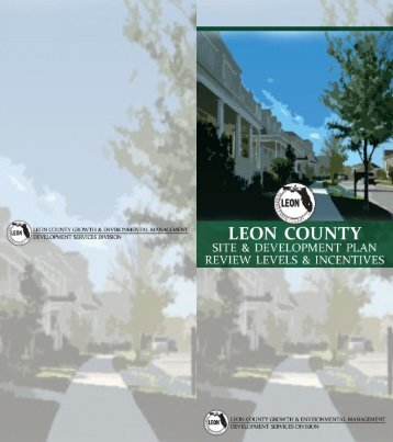 Leon County • Site & Development Plan Review Levels and ...