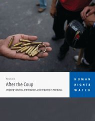 After the Coup - Human Rights Watch