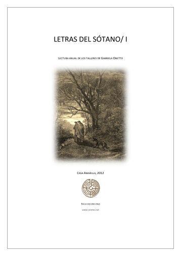 LETRAS DEL SÓTANO/ I (2012)