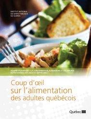 Coup d'oeil sur l'alimentation des adultes québécois - Agri-Réseau