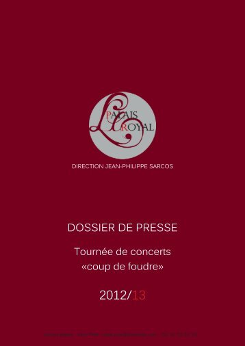 dossier de presse ccf.indd - Ensemble du Palais Royal