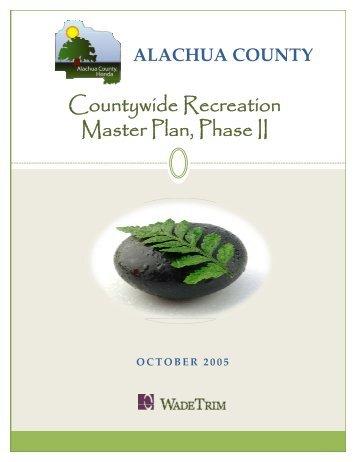 Countywide Recreation Master Plan - Alachua County Florida
