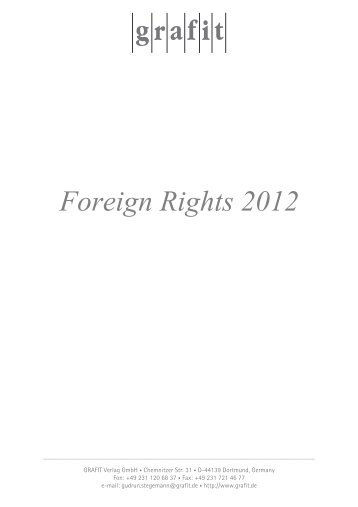 Foreign Rights Guide 2012 - Grafit Verlag