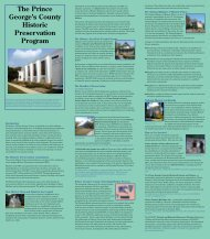 The Prince George's County Historic Preservation Program