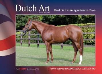 Dutch Art - Thoroughbred Stallion Guide
