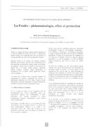 La Foudre : phénoménologie, effets et protection - Transport ...