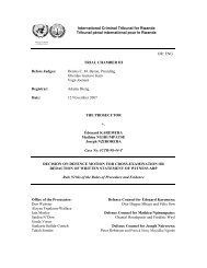Decision on Defence Motion for Cross-Examination or - International ...