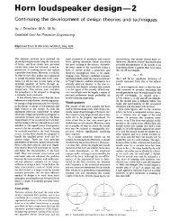 Horn Loudspeaker Design Part 2, PDF, 1426KB