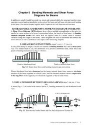 Chapter 5 Bending Moments and Shear Force Diagrams for Beams