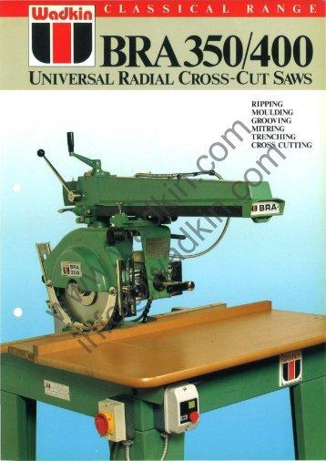 square arm - Wadkin - Woodworking Machines