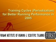 Training Cycles for Better Running Performance in 2005