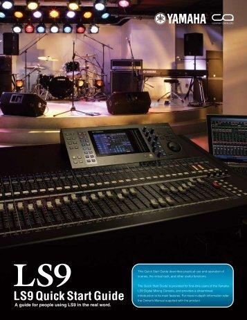 LS9 Quick Start Guide - Yamaha Downloads