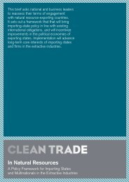 In Natural Resources - Clean Trade
