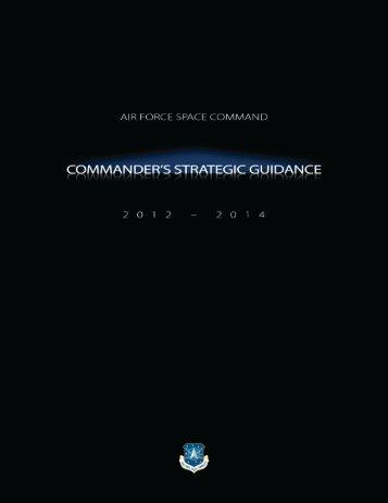publications • afspc commander's strategic guidance