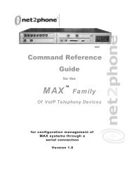Max T1/E1 Command Reference Guide - Net2Phone Partner ...