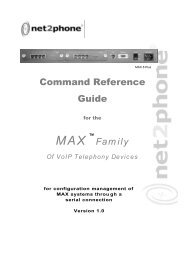 Max 8 Plus Command Reference Guide - Net2Phone Partner ...