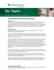 The $750,000 Capital Gains Exemption - Repsource - Manulife ...