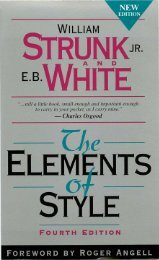 The Elements Of Style - ChokseKU: Home