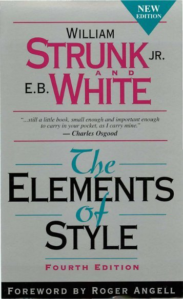 The Elements Of Style - ChokseKU: Home