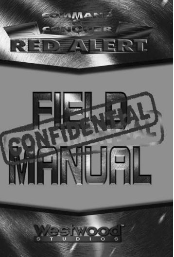 Command and Conquer Red Alert - Manual - PC - dosspot