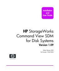 HP StorageWorks Command View SDM for Disk Systems ...