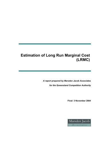 how to calculate long run marginal cost