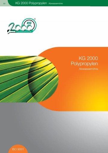 KG 2000 Polypropylen Abwasserrohre - Plastika Balumag AG