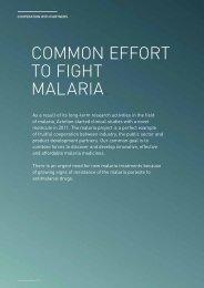 COMMON EFFORT TO FIGHT MALARIA. - Actelion Pharmaceuticals ...