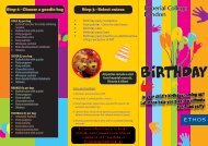 Is your child's birthday coming up? Let Ethos help you ... - Workspace