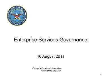 Enterprise Services Governance - Defense Information Systems Agency
