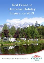Red Pennant Overseas Holiday Insurance 2013 - The Caravan Club