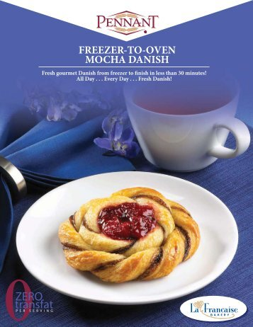freezer-to-oven mocha danish snails freezer-to ... - Pennant Foods